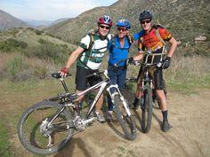 Sean, Mark & Dan, Tres Mountain Biking Amigos at Mission Trails - Photo by Patty Mooney of San Diego video production company Crystal Pyramid Productions - http://sandiegovideoproduction.com/video-producers/patty-mooney/