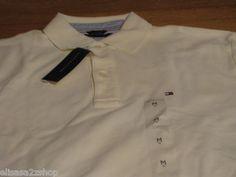 Men's Tommy Hilfiger Polo shirt solid NEW 7812735 light yellow 116 knit XXL 2XL  1