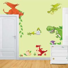 D Dinosaurs Wall Stickers Jurassic Park Home Decoration DIY - 3d dinosaur wall decalsd dinosaurs wall stickers decals boys room animals wall decals
