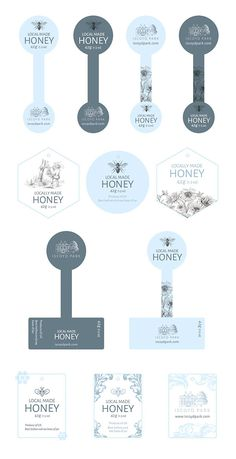 Packaging Honey Jar Labels & Render auf Behance Get Rid Of Moss And Algae For Good It's green; Baking Packaging, Dessert Packaging, Honey Packaging, Cookie Packaging, Food Packaging Design, Bottle Packaging, Packaging Design Inspiration, Ice Cream Packaging, Packaging Ideas