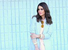 Dress: TopShop / Knit: Carol Bassi / Coat: Armani Exchange / Sunglasses & Purse: Dior / Boots: Stuart Weitzman