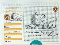 Animals - Hedgehogs - Miss you - Text - Margaret Sherry's Sketchbook