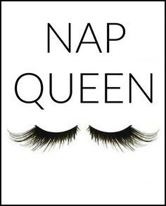 Nap Queen Art for gallery in teen bedroom. FREE Printable. 8x10 and 5x7 #teenart #freeprintables
