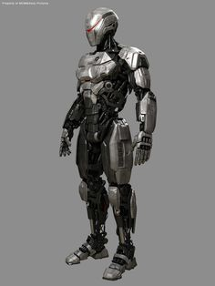 This got me thinking of a link between the RoboCop story and BSG because this looks like a proto Cylon or a a Cylon infection of Earth technology via OCP. both ideas strike me as fun stories to expand (on Robot Concept Art, Armor Concept, Martini, Armadura Sci Fi, Cyberpunk, Futuristic Armour, Arte Robot, Mekka, Future Soldier