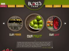 #farm #website #webdesign #apples #brown #layout #inspiration #graphicdesign