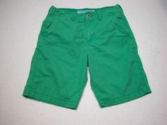 American Eagle Classic Shorts Mens Sz 30 Faded Green 11 inseam 100% Cotton #AmericanEagleOutfitters #CasualShorts