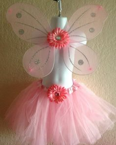 Pink Princess or Fairy Wings and Tutu Dress Up by partiesandfun, $14.00