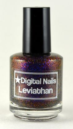 My latest polish obsession, color shifting glitter! Leviathan A Multicolored shifting glitter nail by DigitalNails