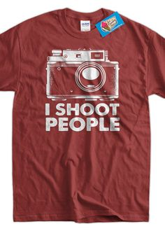 Photography Camera T-Shirt I Shoot People Digital Camera Tshirt Photographers Tee Shirt Mens Womens Ladies Youth Kids Geek Funny