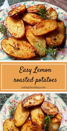 Here is the easy recipe for lemon roasted potatoes with rosemary. This lemon roasted potatoes are perfect for a side dish but also so delicious to eat them just alone! Try to prepare this lemon roasted potatoes and enjoy their crunchiness! Potato Dishes, Vegetable Dishes, Vegetable Recipes, Food Dishes, Vegetarian Recipes, Cooking Recipes, Healthy Recipes, Game Recipes, Fodmap Recipes