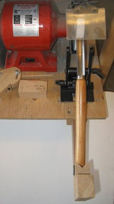 Shop-made Sharpening System for Woodturners (roughing, spindle, bowl, skew, etc.)
