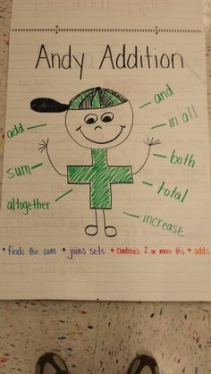 Andy Addition - anchor chart