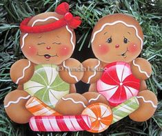 The Decorative Painting Store: Peppermint Kids Gingerbread, Newly Added Painting Patterns / e-Patterns