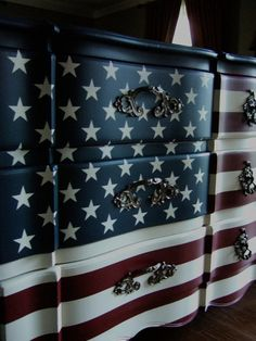The Waving American Flag Dresser by Artisan8 on Etsy,