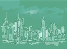 New York Skyline Vektör