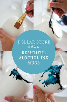 Dollar Store Hack: Beautiful Alcohol Ink Glasses