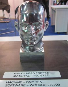 Head milled in India, using WorkNC CADCAM
