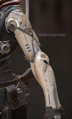 Junkyard Metals - Smart Materials Pack Robot Concept Art, Armor Concept, Robot Parts, New Retro Wave, Arte Robot, Sci Fi Armor, Modelos 3d, Ex Machina, Robot Design