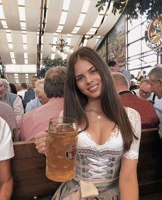 German Oktoberfest, Oktoberfest Outfit, Oktoberfest Beer, Sexy Work Outfit, Beer Girl, German Girls, Beer Festival, Traditional Dresses, Root Beer