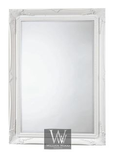 "Shabby Chic Wall Mirror orleans white shabby chic leaner ornate floor mirror 69"" x 33"" x"