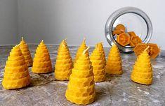 Včelia sviečka - točená / byZniev - SAShE.sk Beeswax Candles, Ale, Pudding, Mini, Desserts, Food, Tailgate Desserts, Deserts, Ale Beer