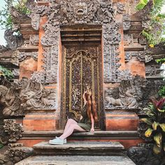 """Erin Calder on Instagram: """"There were so many doorways and walls like this one in #Ubud with amazing details and carvings"""""""