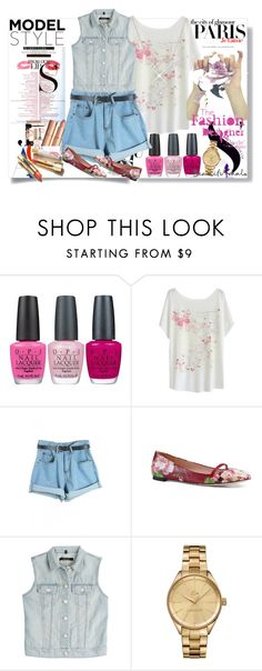 """""""Beautugul Halo"""" by azra-90 ❤ liked on Polyvore featuring H&M, OPI, Gucci, J Brand, MAC Cosmetics and Lacoste"""