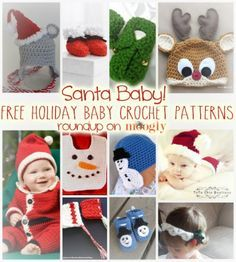 Free Holiday #Crochet Patterns for Babies!