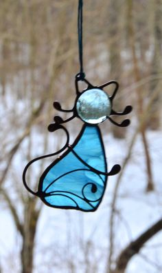 Cat ornaments, cat lover gift, stained glass cat, cat decoration, cat suncatcher, glass cat, animal stained glass