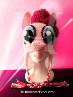My Little Pony Pinkie Pie styled Crochet Hat. $75.00, via Etsy.