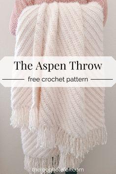 Quick Crochet Blanket, Crochet Throw Pattern, Crochet For Beginners Blanket, Afghan Crochet Patterns, Crochet Stitches, Crotchet Blanket, Modern Crochet Blanket, Beginner Crochet Blankets, Free Crochet Afghan Patterns