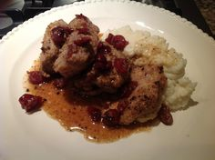 Best meal ever! Paleo Pork medallions with dried cranberries