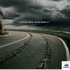 Subaru - It can be very unkind. The new Impreza STI. #Advertising #Print