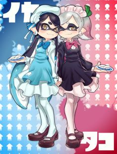 See more 'Squid Sisters' images on Know Your Meme! Nintendo Characters, Cute Characters, Fire Emblem, Game Character, Character Design, Splatoon Squid Sisters, Nintendo Splatoon, Callie And Marie, Fan Art Anime