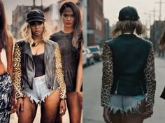Beyonce yonce video leopard leather jacket