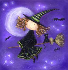 Ileana Oakley - witch and black cat