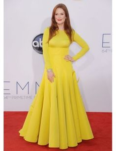 The 2012 Emmys: The Best Looks and How to Get Them : Lucky Magazine  Beauty. Love it, love the long sleeves.