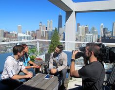 I wouldn't mind having that view. New #househunters tonight at 10p|9c on @hgtv! . . . . . . . . #illinois #chicago #skyline # view #rooftop #realestate #realitytv #reality #bts #behindthescenes #crew #setlife #couple #pietown #househunters #househunting #production
