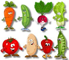 Art Drawings For Kids, Cartoon Drawings, Easy Drawings, Preschool Crafts, Crafts For Kids, Vegetable Cartoon, Flashcards For Kids, Green Beans With Bacon, Fruit Cartoon