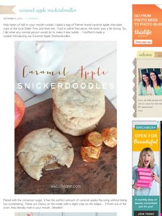 http://lollyjane.com/caramel-apple-snickerdoodles/