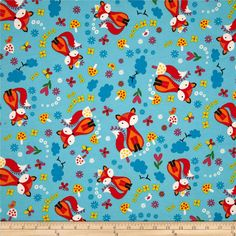Magical Ocean Lobsters Fishes Waves 100/% Cotton Fabric Children Dressmaking