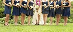 A Rustic Summer Wedding with a Cultural Theme Mismatched Bridesmaid Dresses, Summer Wedding, Our Wedding, Navy Dress, California Wedding, Formal Dresses, Wedding Dresses, Culture, Kleding