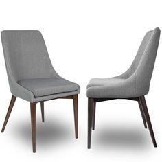 Lot de 2 chaises tissu Juju DRAWER : prix, avis & notation, livraison. Dotée dun large dossier et dune assise bien rembourrée, cette chaise procure un excellent confort à son occupant ! Avec ses pieds en bois teinté noyer et ses tissus au couleurs douces , cette chaise est dune belle élégance et se marie à tous les intérieurs. Le mélange de matières entre le bois et le tissu gris ou beige apporte beaucoup d'un charme assez classique à cette dernière née de la collection Dutch Bone chez…