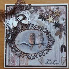Big Shot, Handmade Christmas, Christmas Cards, Projects To Try, Birds, Wreaths, Frame, Studio, Watercolor