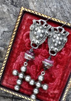 REGAL HERALDIC CREST and cross assemblage by HallowedAdornments