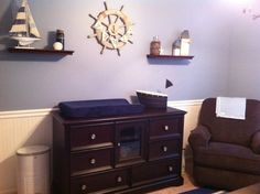 Nautical Nursery... If we have a boy, this is what I envisioned with red accents!!! *ahhhh*