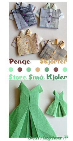 Mona Honnens: Folding, folding paper and money … – Shirt Types Diy Paper, Paper Crafts, Napkin Folding, Art N Craft, Diy Coasters, Darth Vader, Diy Fan, Creative Gifts, Diy Cards
