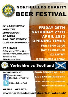 2nd Annual North Leeds Charity Beer Festival