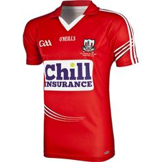Cork GAA Jersey #GAA #oneills #ireland #cork Training Kit, Striped Jersey, Cork, Ireland, Sportswear, Football, Shirts, Treats, Stripped Shirt