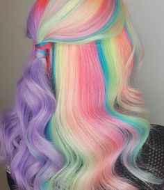 Pin by manisha chauhan on hair color plums in 2019 единорожьи волосы, краше Cute Hair Colors, Pretty Hair Color, Beautiful Hair Color, Hair Dye Colors, Pastel Colors, Bright Hair Colors, Hey Gorgeous, Dyed Hair Pastel, Pastel Rainbow Hair